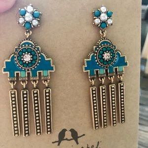 Chloe + Isabel TURQUOISE Statement Earrings NWT
